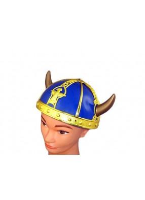 Шлем викинга с золотыми рогами