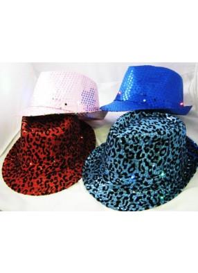 Шляпа блестящая мигающая