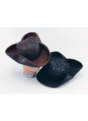 Шляпа бывалого пирата коричневая