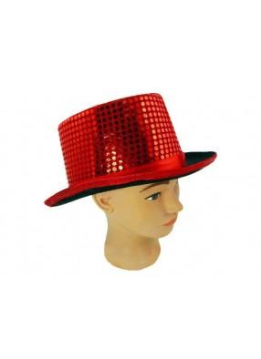 Шляпа джазовая красная
