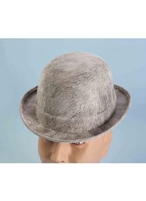 Шляпа Котелок серая взрослая