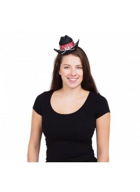 Шляпа Ковбоя-мини на ободке 1 фото