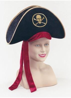 Шляпа пирата Люкс Велюр
