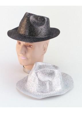 Шляпа пластиковая серебренная