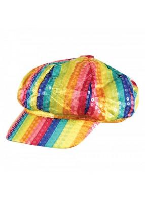 Шляпа Радужная блестящая 1 фото