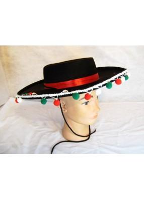 Шляпа сомбреро черная