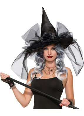 Шляпа Ведьмы черная deluxe