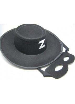 Шляпа Зорро с маской