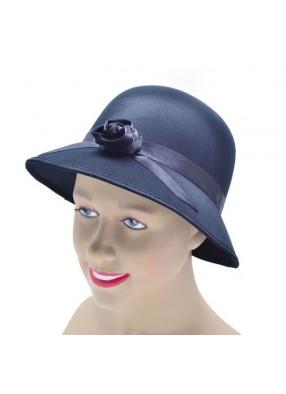 Шляпка женская 20-х годов черная