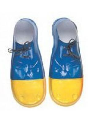Сине-желтые клоунские бахилы взрослые