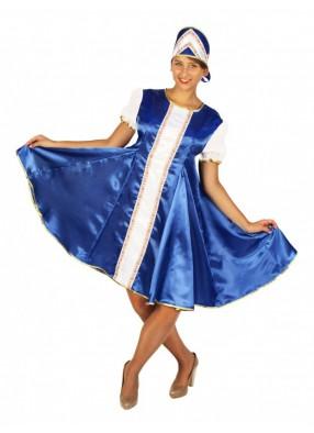 Синее женское платье сказочной царевны