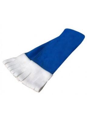 Синий флисовый шарф на Новый год