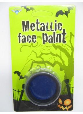 Синий грим на Хэллоуин