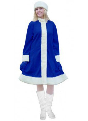 Синий классический костюм Снегурочки