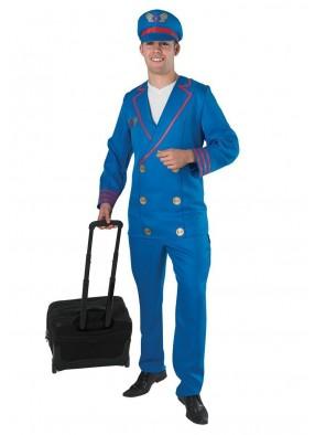 Синий костюм пилота фото