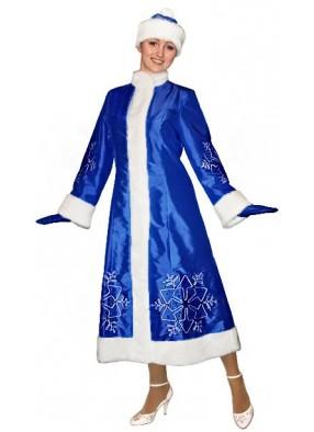 Синий костюм Снегурочки Серебряная Снежинка