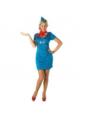 Синий костюм стюардессы фото