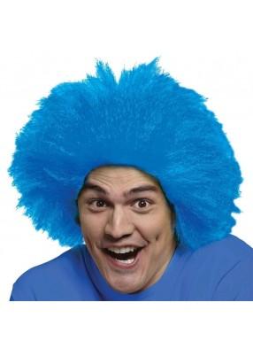 Синий парик клоуна юмориста фото