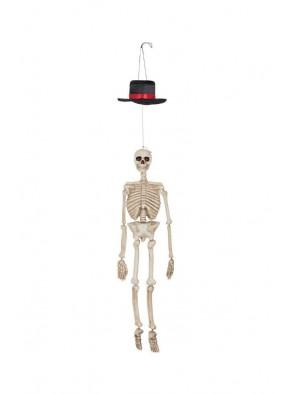 Скелет висящий со светящимися глазами