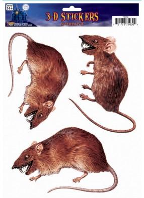 Стикер крыса на окно