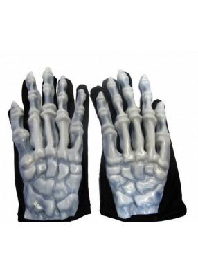 Светящиеся в темноте перчатки скелета