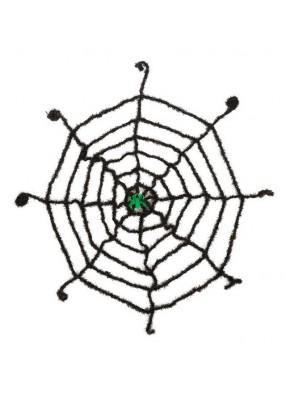 Светящийся паук на паутине