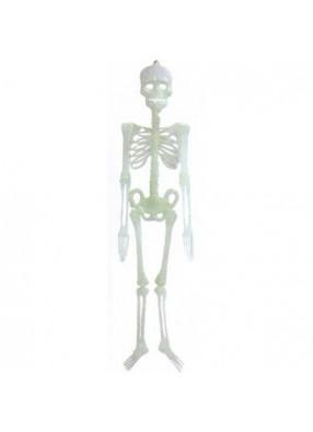 Светящийся в темноте скелет 90см