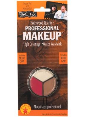 Трехцветный профессиональный грим макияж