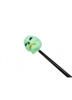 Трость с зеленым черепом