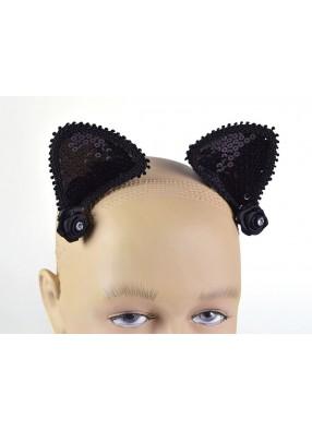 Уши кошачьи на клипсах