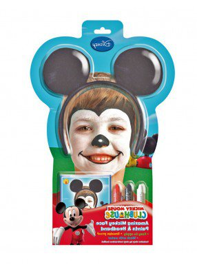Уши Микки Мауса с гримом