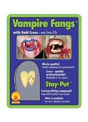 Вампирские клыки со стразами фото