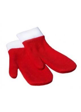 Варежки для Деда Мороза красные