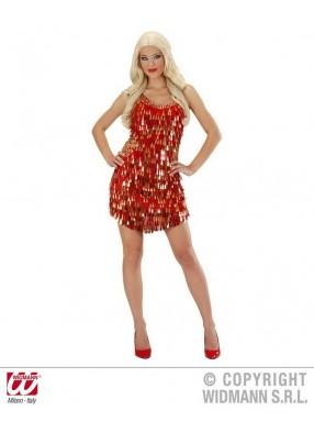 Вечернее красно-золотое платье