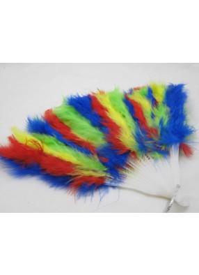 Веер перьевой разноцветный