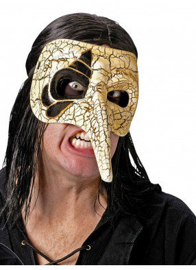 Венецианская белая маска ворона