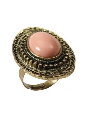 Винтажное кольцо с розовым камнем