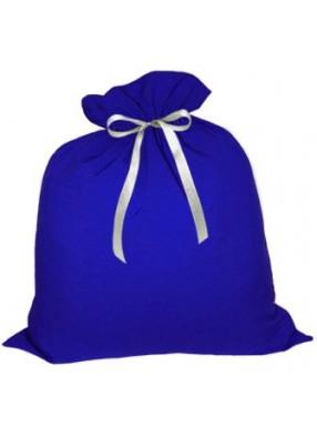 Вместительный подарочный мешок Деда Мороза синий