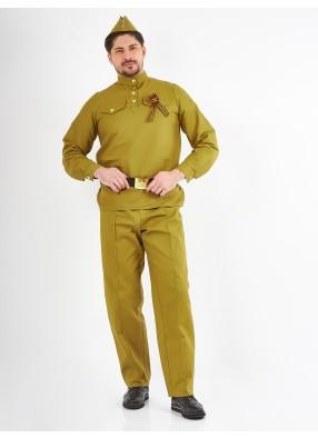 Военный мужской костюм из саржи