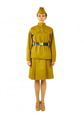 Военный женский костюм из саржи