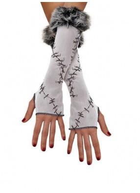 Взрослые перчатки со швами