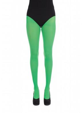 Яркие зеленые колготки