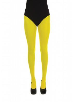 Яркие желтые колготки