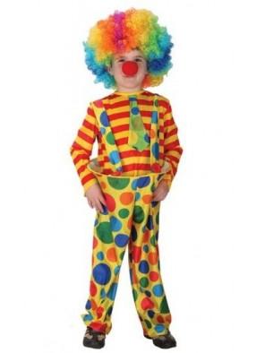 Яркий детский костюм циркового клоуна