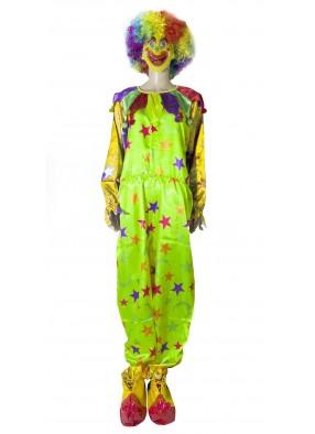 Яркий клоунский костюм фото