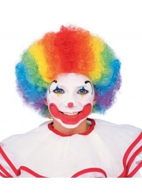 Яркий клоунский парик Мультиколор