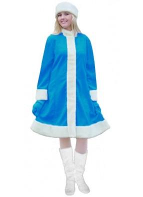 Ярко-голубой классический костюм Снегурочки