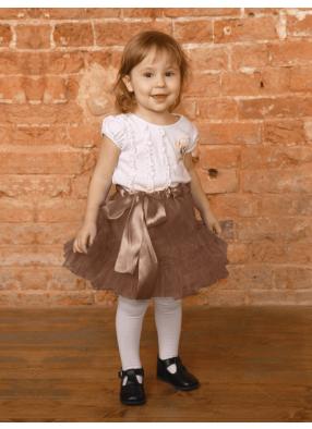 Юбка фатиновая Кокетка коричневая 1 фото