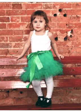 Юбка фатиновая Кокетка зеленая 1 фото