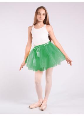 Юбка фатиновая зеленая Пачка бирюзовая 1 фото